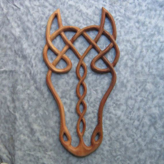I LOVE THIS!!! Epona- Wood Carved Celtic Horse Goddess- Horse Spirit. This would make a cute wire wrapping project too.