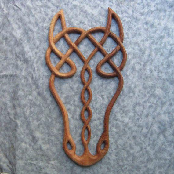 I LOVE THIS!!! Epona- Wood Carved Celtic Horse Goddess- Horse Spirit. $128.00, via Etsy.