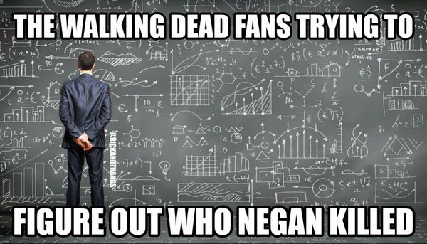 """Rick Grimes on Twitter: """"#TheWalkingDead fans trying to figure out who Negan killed: """""""