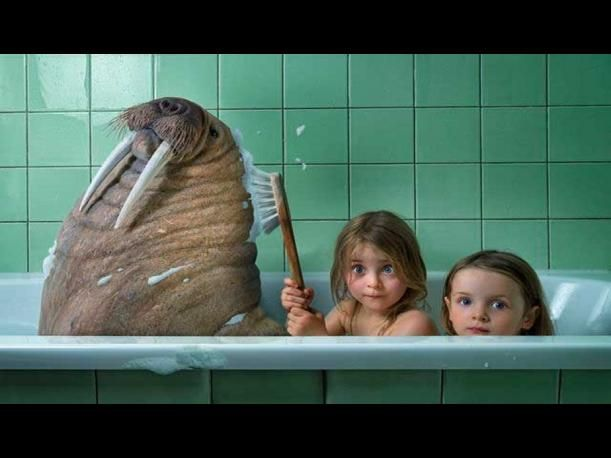 Papá crea mundos de fantasías para sus hijas con Photoshop