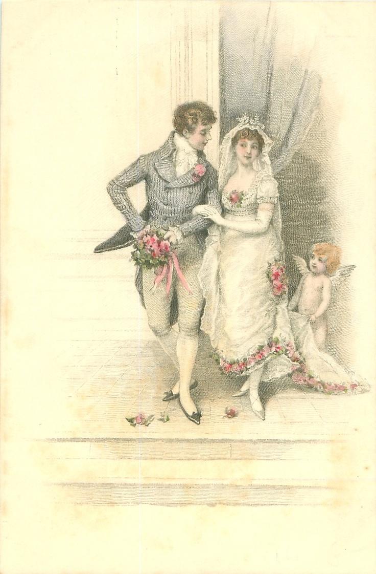 Дореволюционные свадебные открытки, открытки красивые