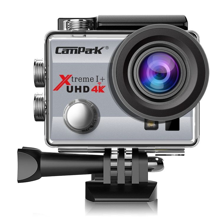 Campark® Action Cam 2.0 Inch Wifi 4K Action Camera Helmet Camera Underwater 170 Degree Wide Angle Camera 1080P Full HD DV Camcorder HDMI Output Time Lapse Slow Motion – Silver