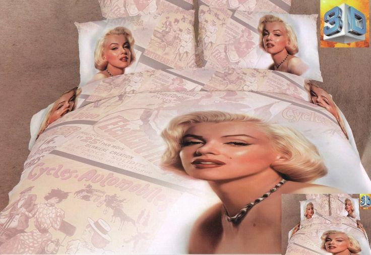Realistyczna pościel w kolorze pudrowym z Merlin Monroe