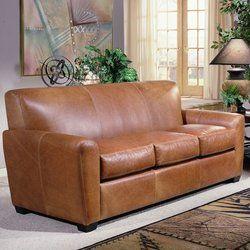 Tan Leather Sofa Set