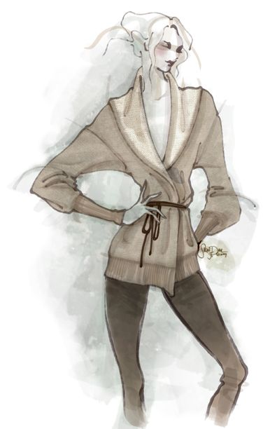 Camel Sweater Illustration