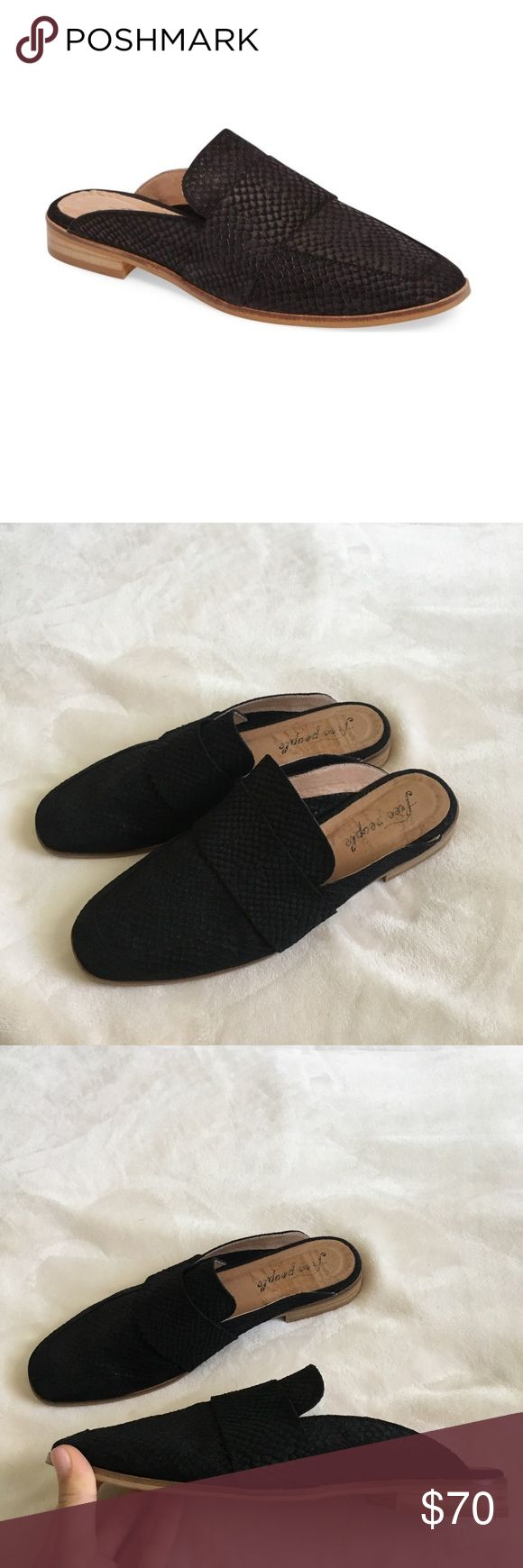 """Free People """"at ease"""" slide Black slide WOMENS size 39 fits like an 8.5 worn few times GREAT condition Free People Shoes Mules & Clogs"""