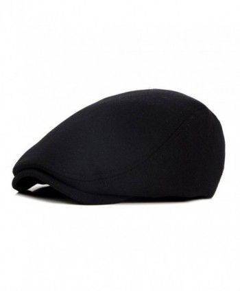 4959c5dbe88 ZLS Retro Unisex Golf IVY Driving Beret newsboy Cabbie Caps Hats For Men -  Black - CV17Y0L3GEW