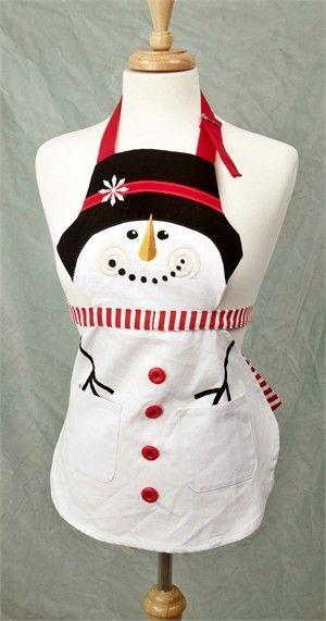 child snowman apron