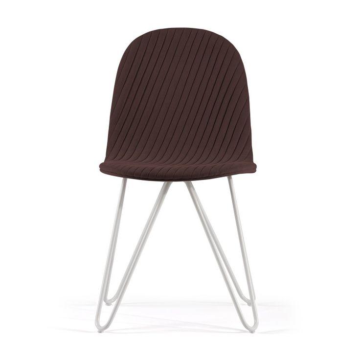 Design Stuhl Mannequin 03 mit gebogenem Untergestell und Steppmuster