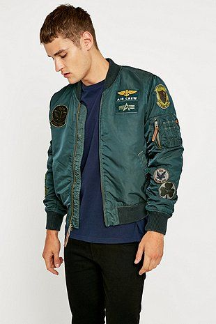 Alpha Industries Patch MA1 Bomber Jacket - Urban Outfitters