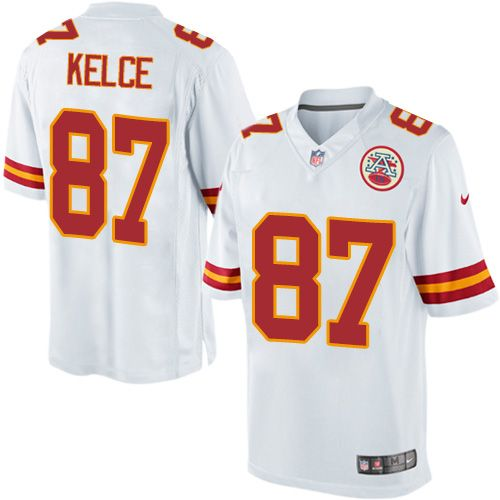 $24.99 Nike Limited Travis Kelce White Men's Jersey - Kansas City Chiefs #87 NFL Road