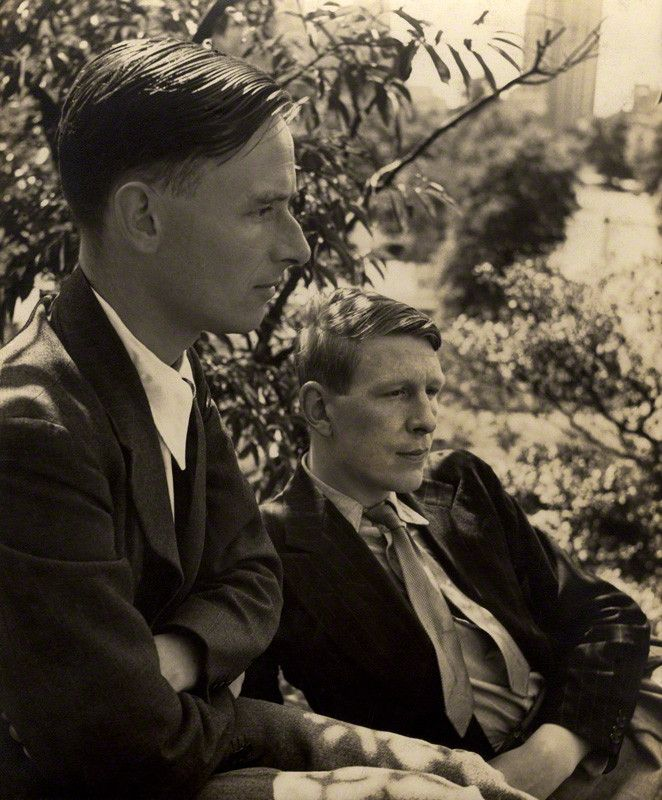 1938 Christopher Isherwood and W.H.Auden by American photographer Louise Dahl-Wolfe (1895-1989).