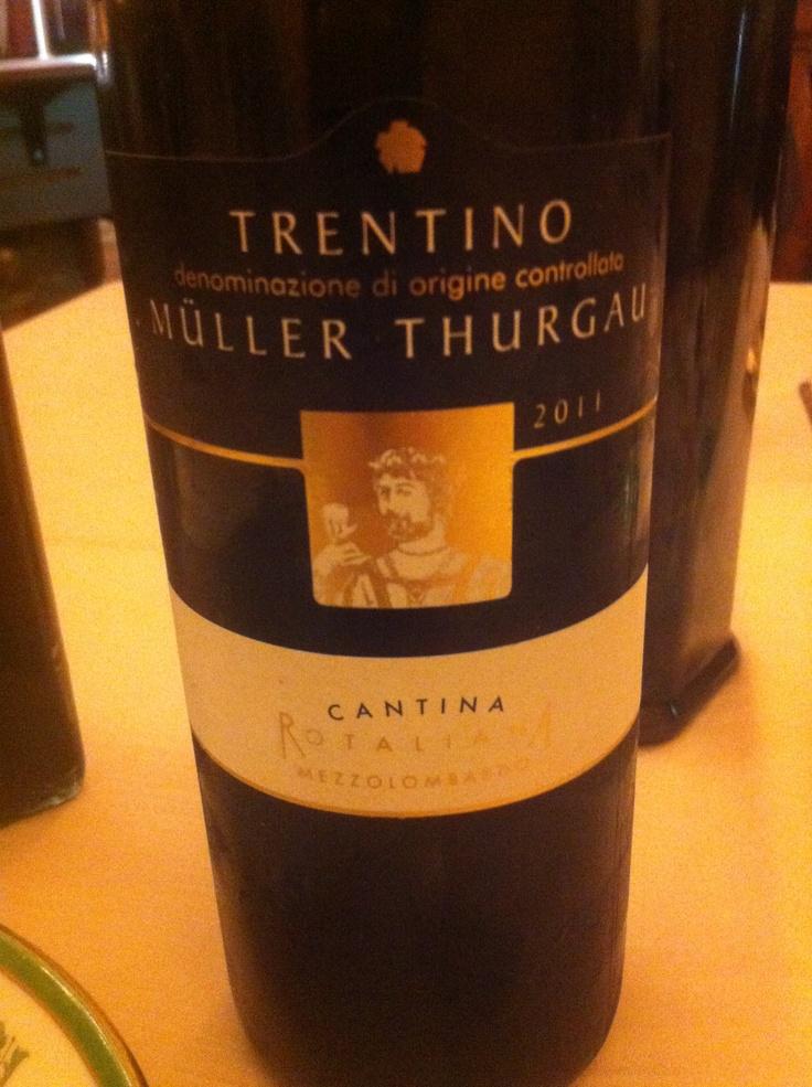 White wine from Trentino