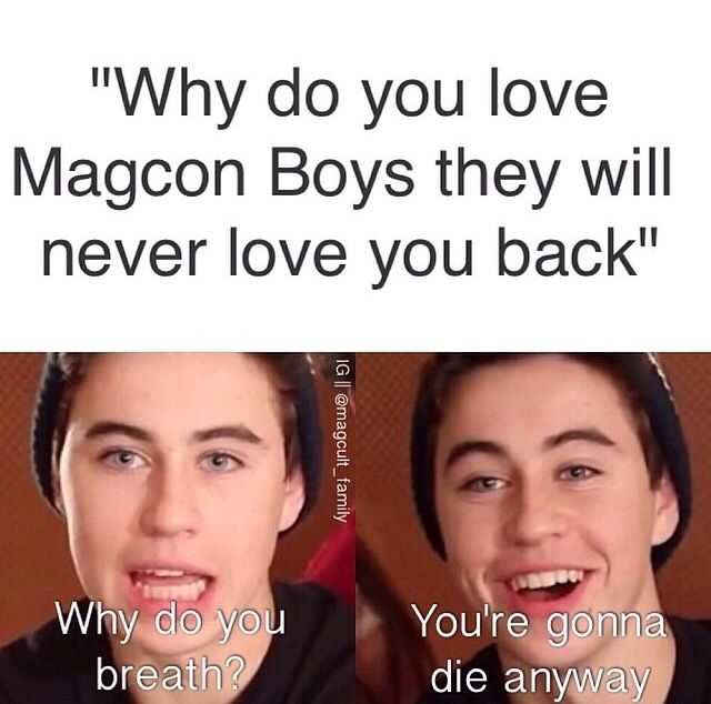 funny magcon memes | Group of: Magcon funny true | We Heart It
