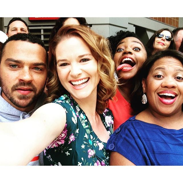 Jesse Williams, Sarah Drew, Jerrika Hinton, and Chandra Wilson