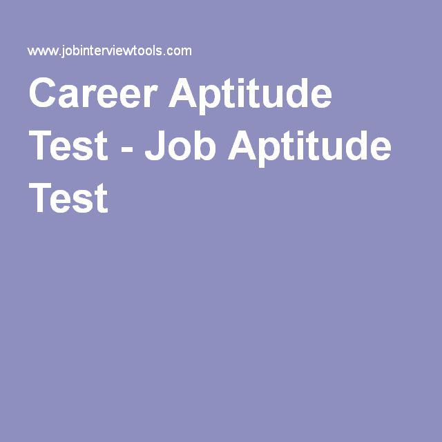 Career Aptitude Test - Job Aptitude Test