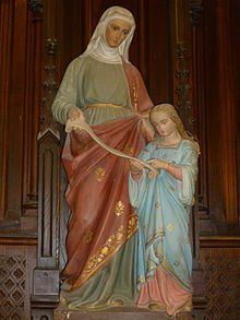 Saint Anne et Marie enfant - Saint Anne - and her daughter, the Virgin Mary as a child. Wikipedia, the free encyclopedia