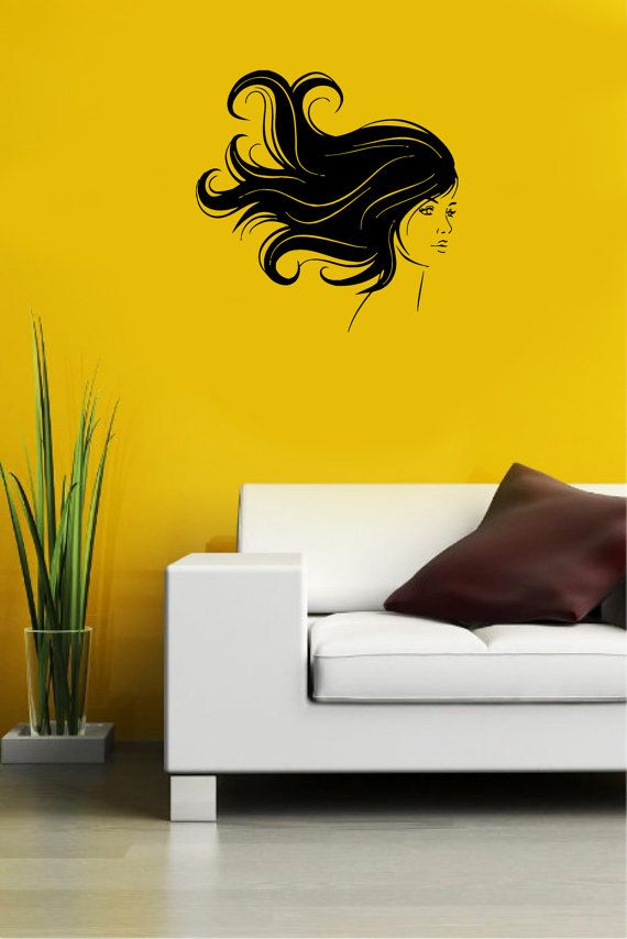 17 best images about hair style wall decal on pinterest for Stickers salon design