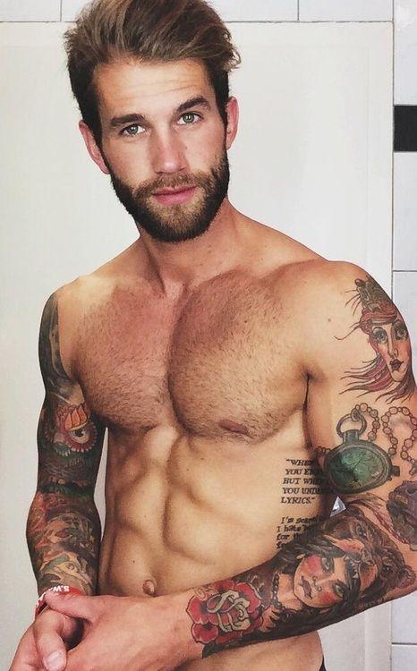 Sexy tattoo male model