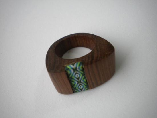 anillo madera telar
