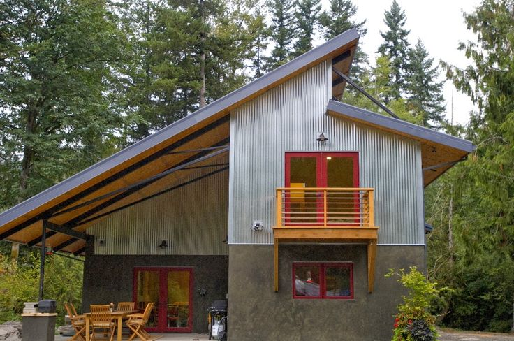Metal,concrete, and wood with a splash of small home