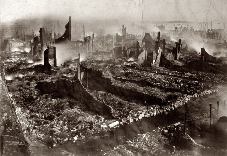 A city in ruins. Boston, Massachusetts, after the great fire of November 9-10, 1872.