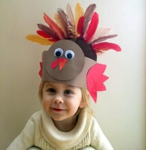 9 Awesome Thanksgiving Crafts to Amuse and Delight Your Children!: A Second Paper Turkey Hat Option