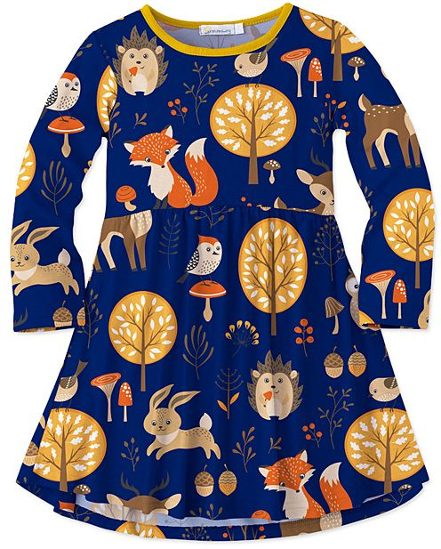 Adorable Woodland Animal Dress.  | Girls | Toddler | Fashion | Outfits | Fall | Dresses | Trendy | Cute |
