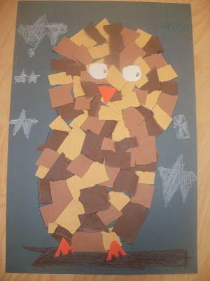 Construction paper owls... #GaleriAkal Untuk berbagi ide dan kreasi seru si Kecil lainnya, yuk kunjungi website Galeri Akal di www.galeriakal.com Mam!