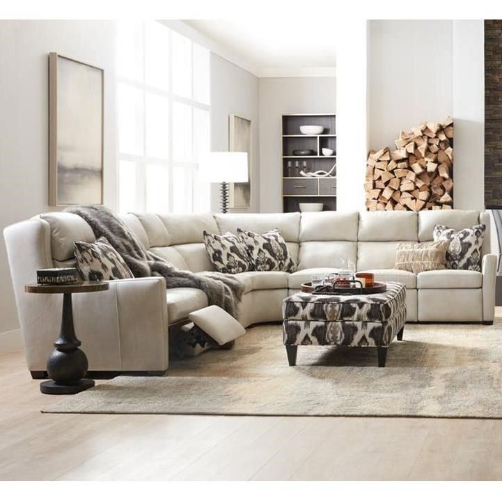 Dixon 3 Pc Power Reclining Sectional Sofa By Bradington Young At Sprintz Furniture Sectional Sofa Power Reclining Sectional Sofa 3 Piece Sectional Sofa