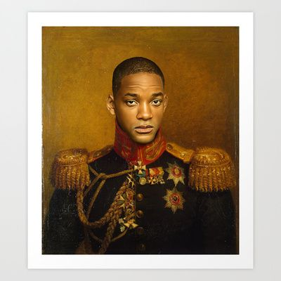 Will Smith - replaceface Art Print by Replaceface - $24.95