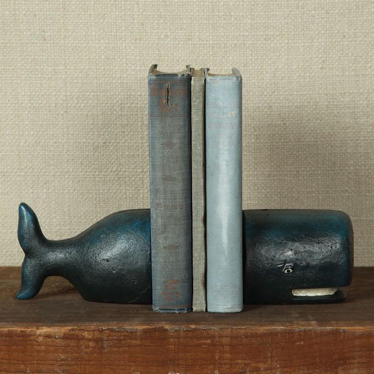 "These hand-painted lovable and cartoonish whales are sure to charm any guest. The split in the middle enables the use of only one piece as a bookend, with the headpiece on one end and the tail on the other, or the use of a pair, for a more traditional bookend look. Measures 8"" L x 3"" W x 3"" H and weighs 6.2 lbs."