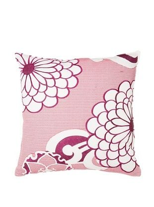65% OFF Trina Turk Chevron Dots Flower Pillow, White/Fuchsia, 20
