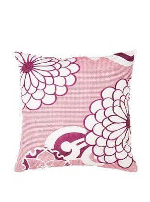65% OFF Trina Turk Chevron Dots Flower Pillow, White/Fuchsia, 20