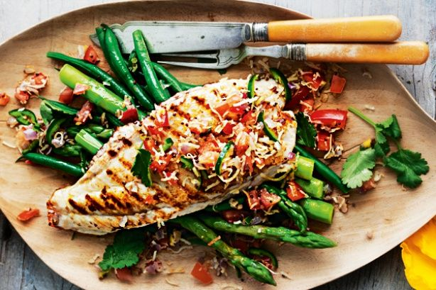 Char grilled fish