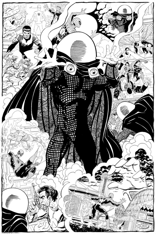 Mysterio montage commission by John Byrne from 2012.