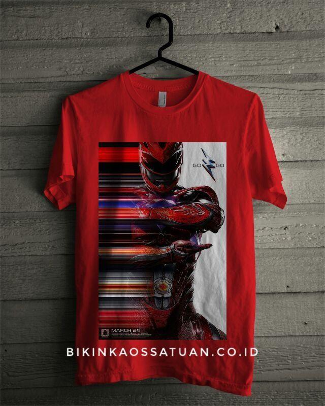 Kaos Red Power Ranger - Bikin Kaos Satuan