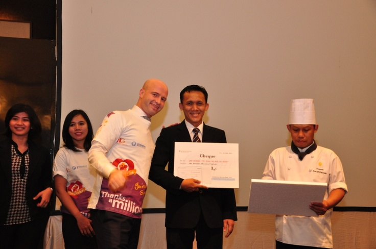 Winner of To fold or not to fold #InterContinental #Jakarta #Celebrate #Service #Week