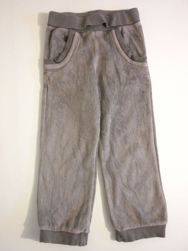 Pantalon de jogging bas de survetement 2 3 ans garçon fille marron taupe sport