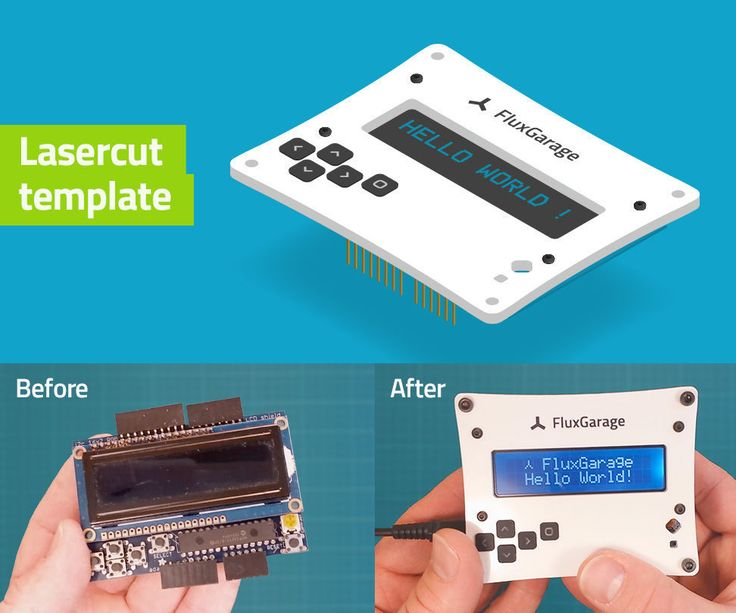What we're going to build:In this tutorial we're going to build a lasercut acrylic frontplate for an Adafruit 16x2 LCD + Keypad Shield (Arduino version). Due to a...