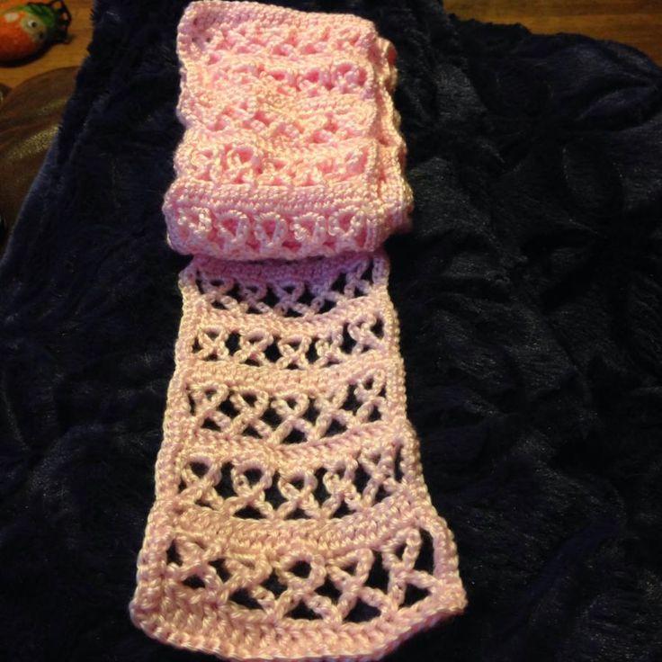 Breast Cancer Scarf - Crochet creation by FashionBomb