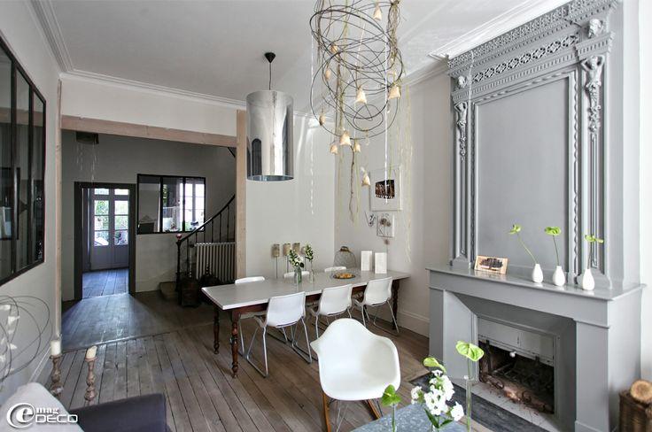 Salon-salle à manger d'une maison à Agen décorée par Béatrice Loncle