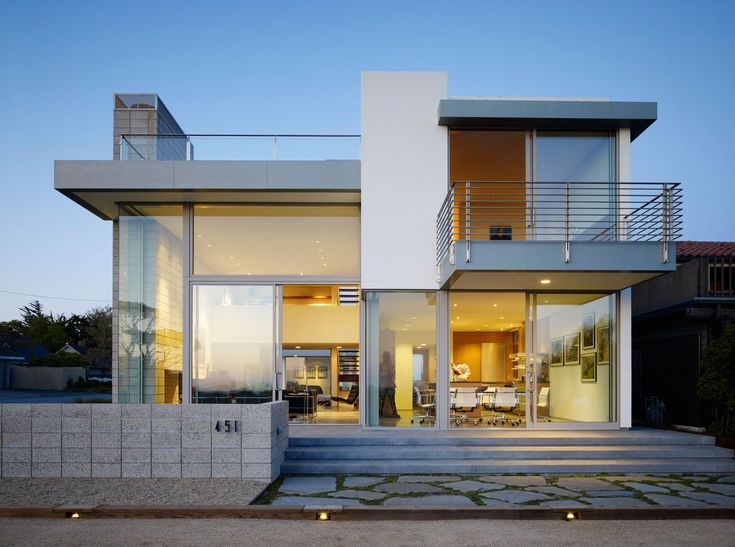Contemporary House with Glass Window and Small Balcon plus Casual