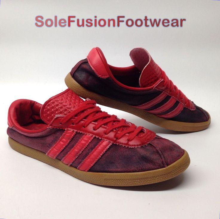 adidas Originals Mens LONDON Trainers Red size 9 Rare Sneakers US 9.5 EU 43 1/3  | eBay