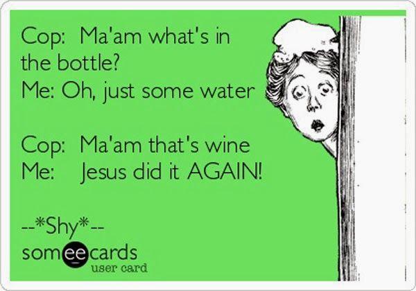 wine, water, water, wine