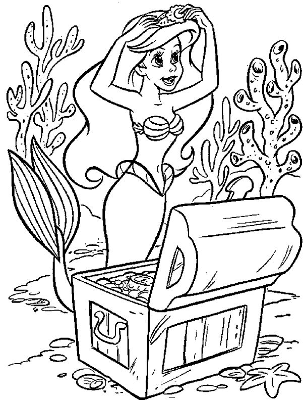 ariel wear accessories coloring pages - Amish Children Coloring Book Pages