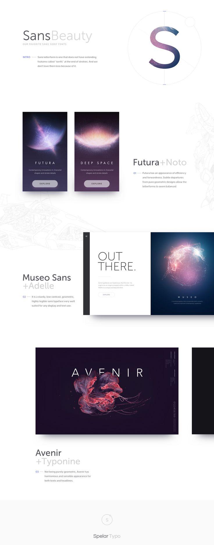 Sans Beauty - Our Facorite Sans Serif Fonts (Webpage design)