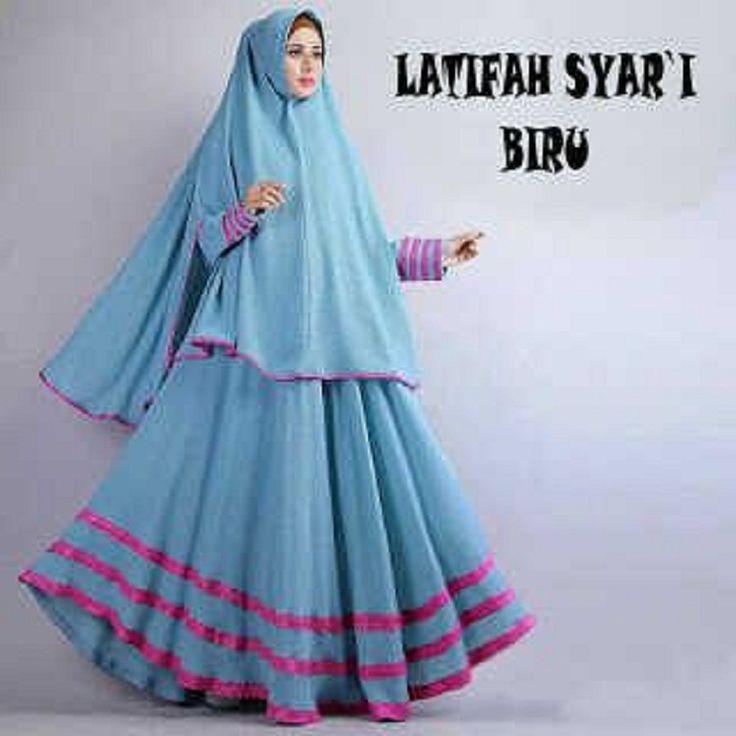 Gamis Syar'i Modern LATIFAH BIRU - http://warongmuslim.com/gamis-syari/gamis-syari-modern-latifah-biru/