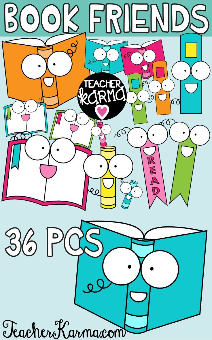Book Clipart Reading Graphics Back To School