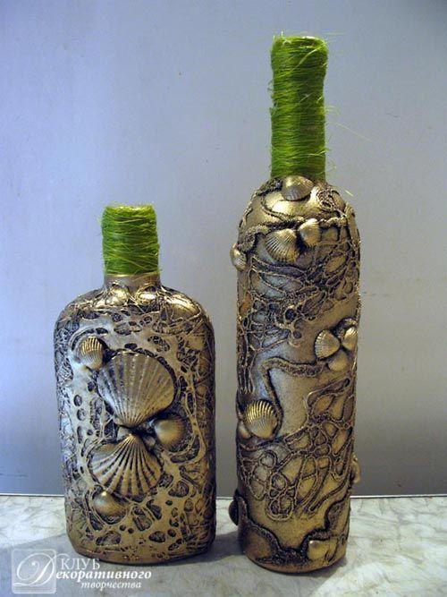 Купить декоративные бутылки для флористики и декора в Киеве